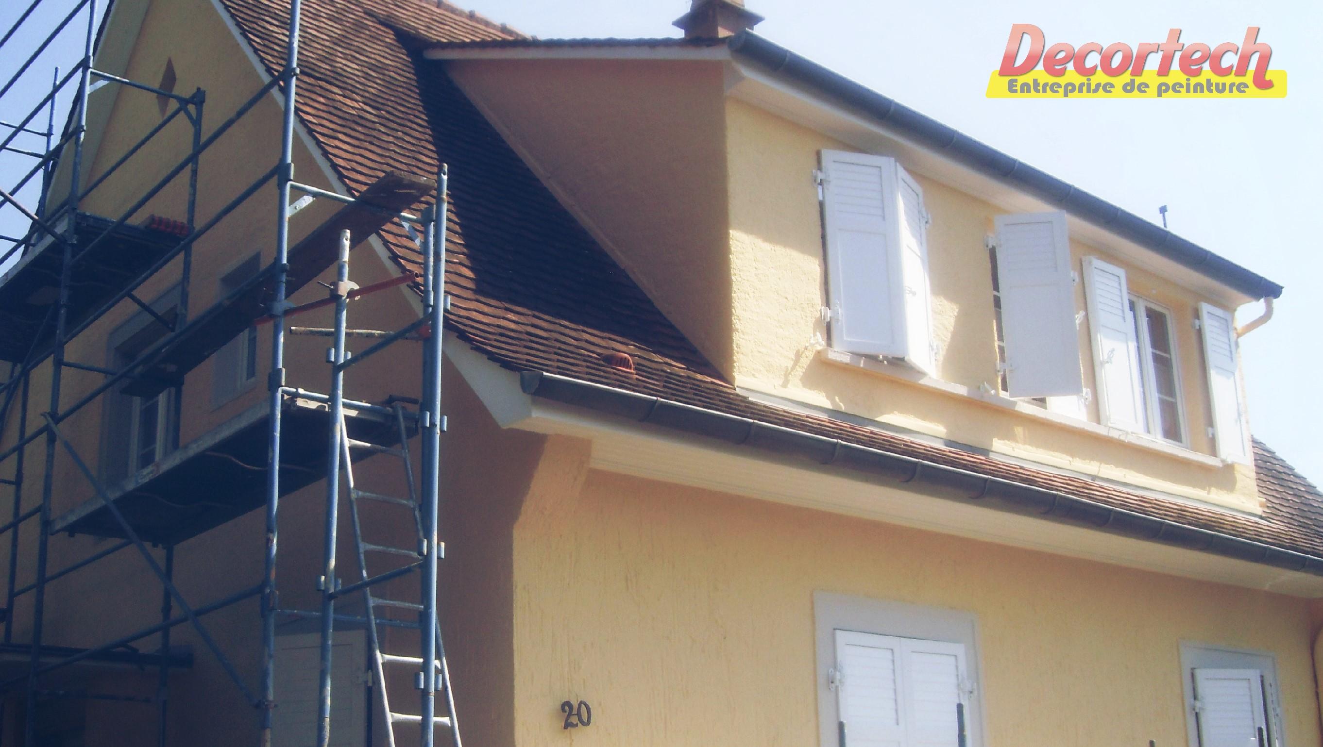 Decortech ravalement de façade peinture crépis